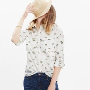 Madewell Tiger & Cheetah Button Down Shirt